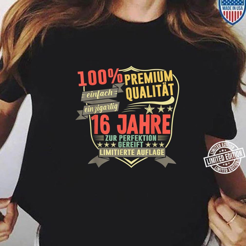 16. Geburtstag 16 Jahre Vintage Retro Jahrgang 2004 Geschenk Shirt ladies tee