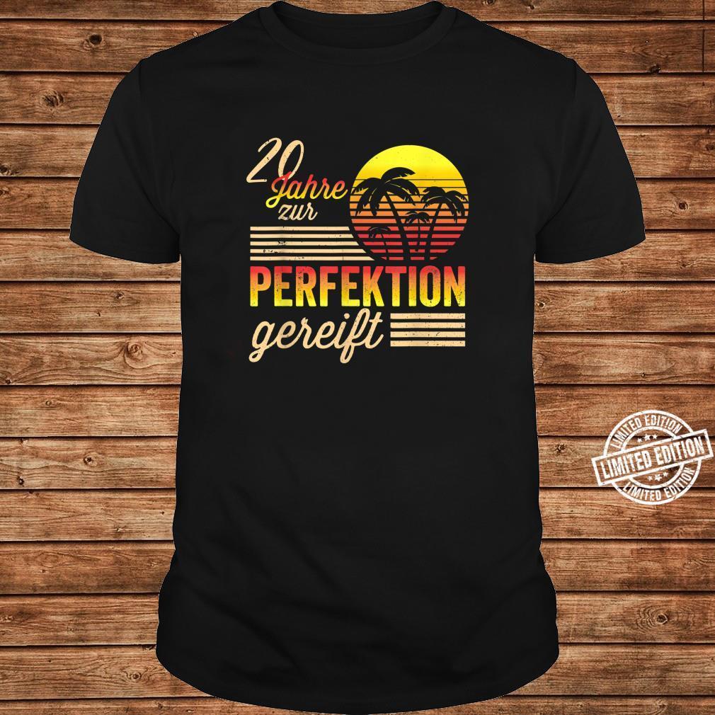 20 Mann Zur Perfektion Gereift Juli 2000 20. Geburtstag Shirt long sleeved