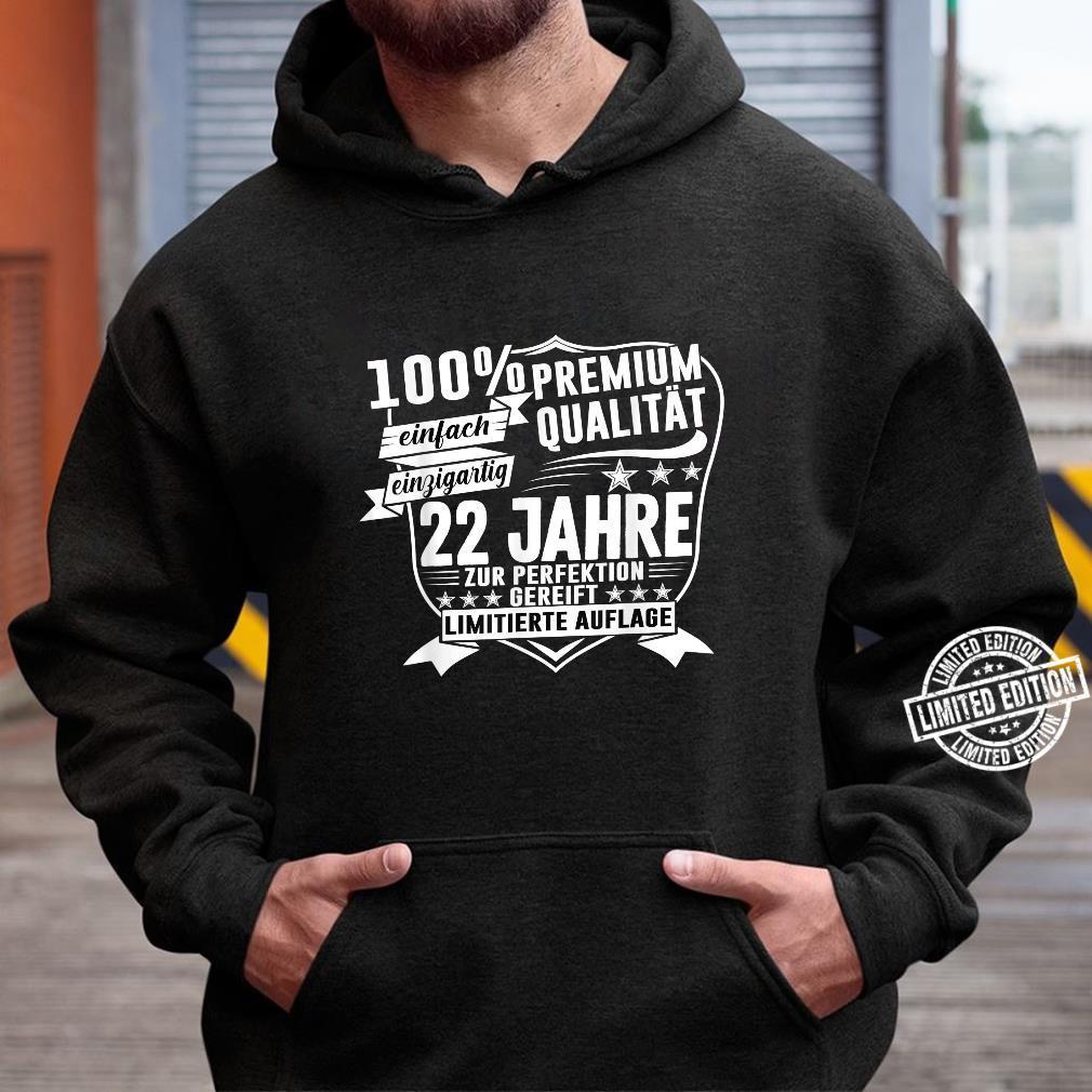 22. Geburtstag 22 Jahre Vintage Retro Jahrgang 1998 Geschenk Shirt hoodie