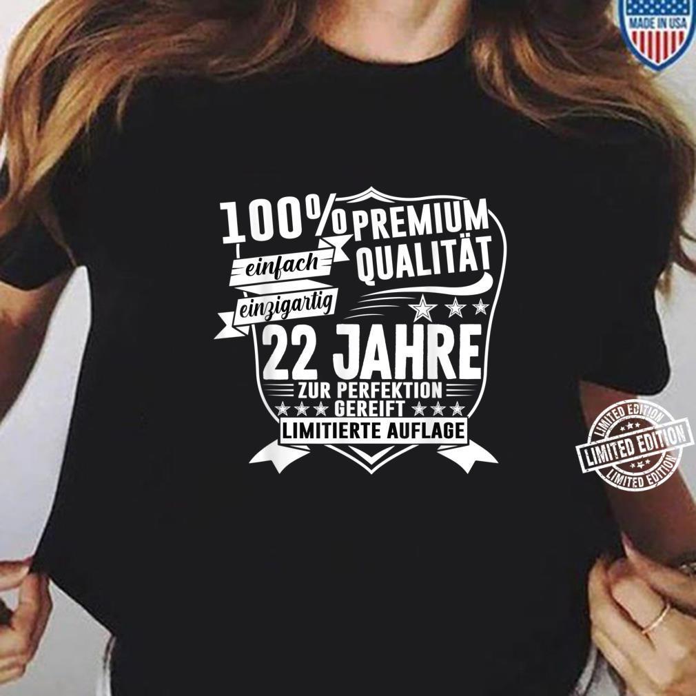 22. Geburtstag 22 Jahre Vintage Retro Jahrgang 1998 Geschenk Shirt ladies tee