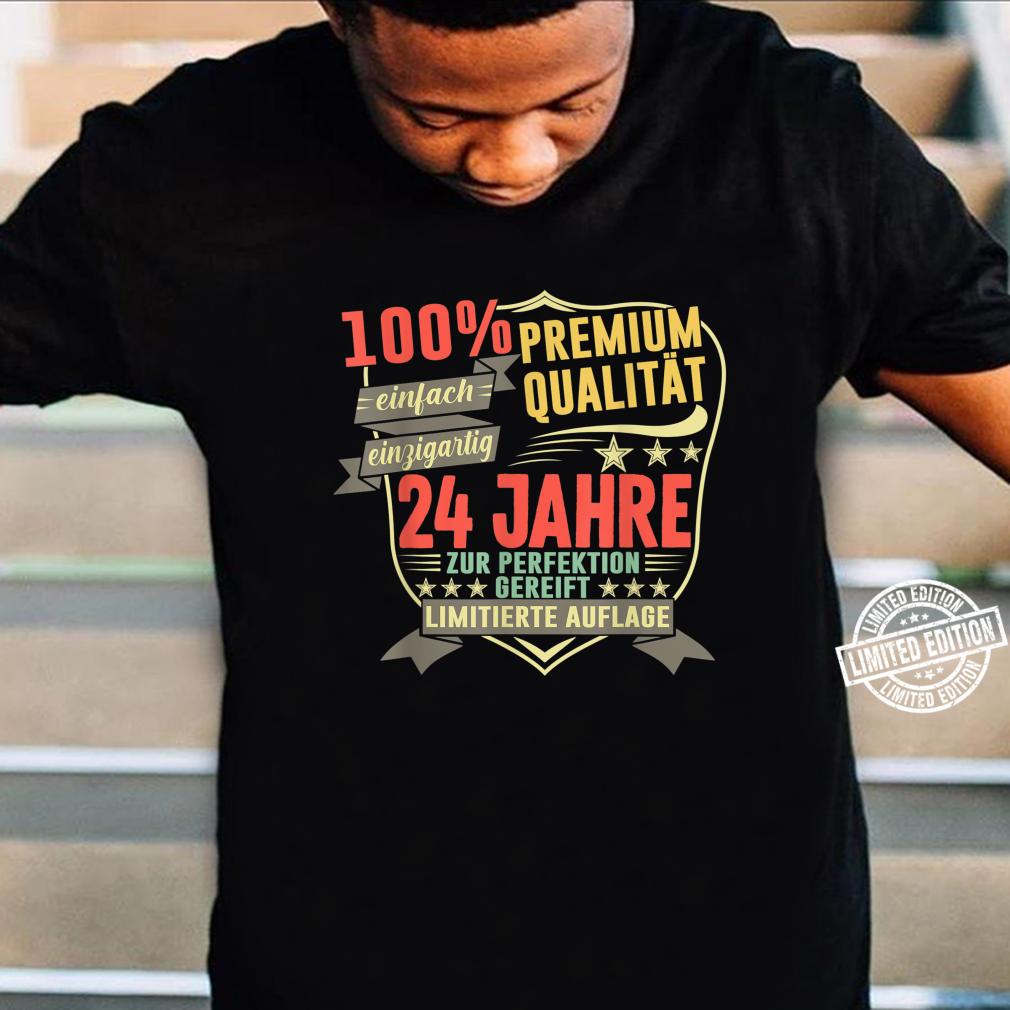 24. Geburtstag 24 Jahre Vintage Retro Jahrgang 1996 Geschenk Shirt