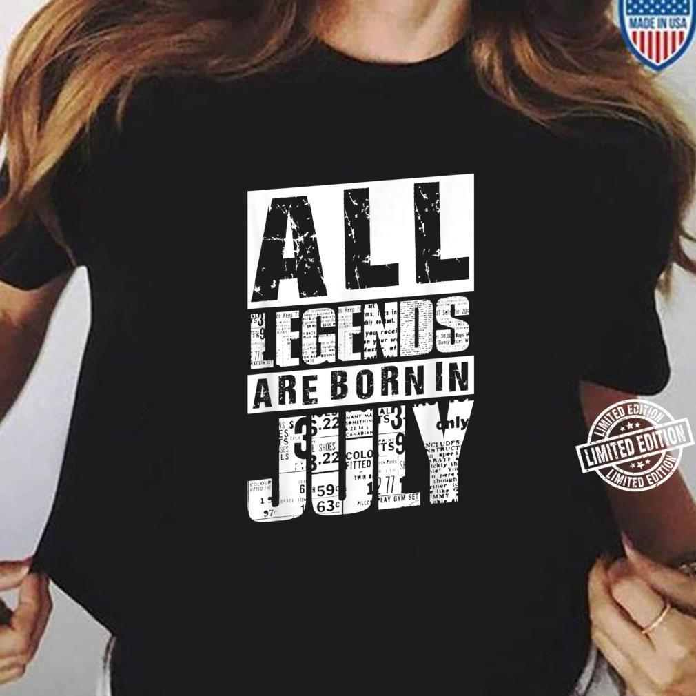 30 All Legends Are Born In Juli 1990 30. Geburtstag Frauen Shirt ladies tee