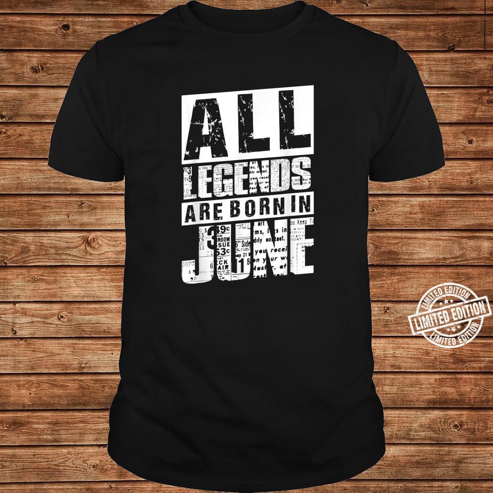 30 All Legends Are Born In Juni 1990 30. Geburtstag Frauen Shirt long sleeved