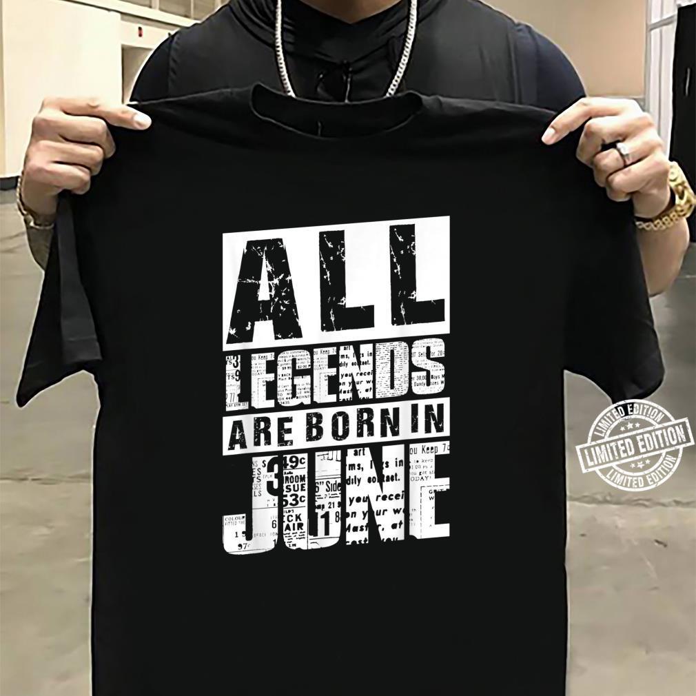 30 All Legends Are Born In Juni 1990 30. Geburtstag Frauen Shirt sweater