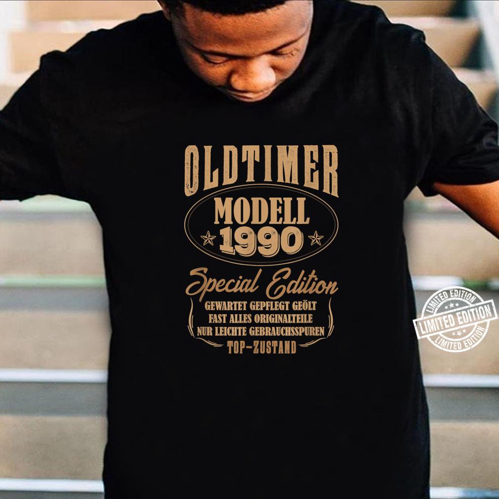 30 Mann Oldtimer Modell Juli 1990 30Ter 30. Geburtstag Shirt