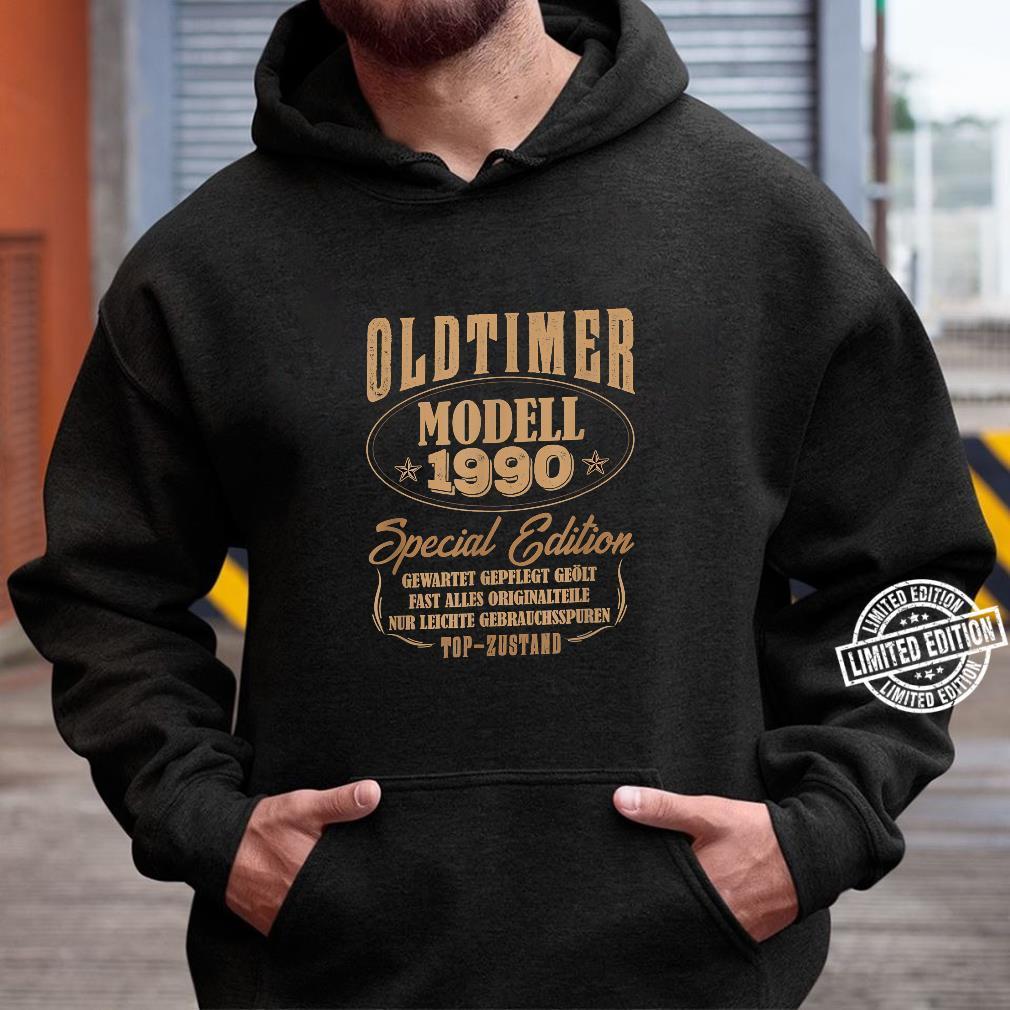 30 Mann Oldtimer Modell Juli 1990 30Ter 30. Geburtstag Shirt hoodie