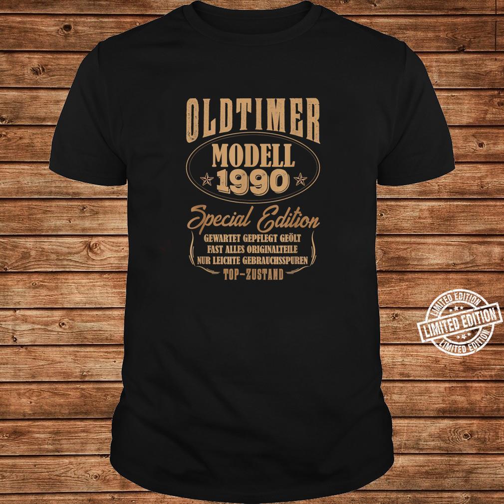 30 Mann Oldtimer Modell Juli 1990 30Ter 30. Geburtstag Shirt long sleeved