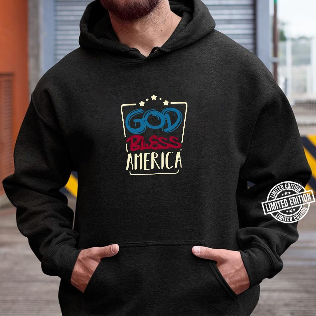 4 Juli God Bless America Amerikanische Flagge USA Gedenktag Shirt hoodie