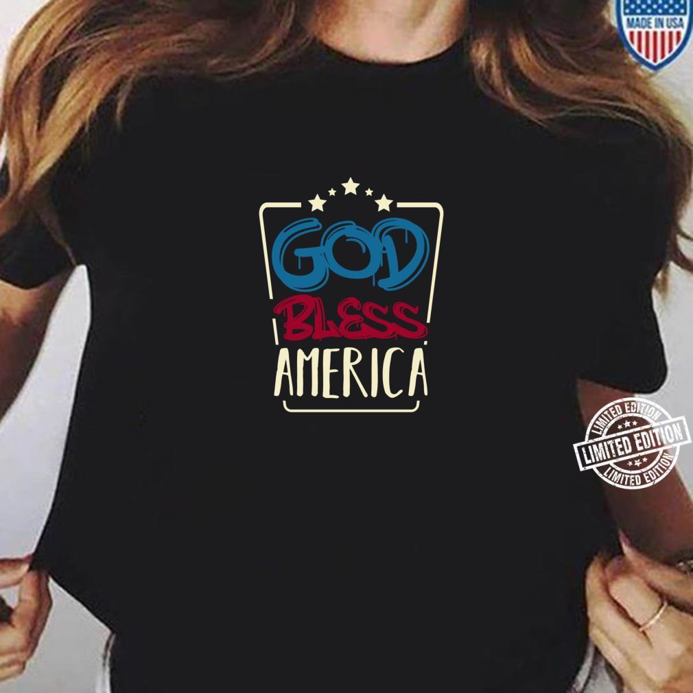 4 Juli God Bless America Amerikanische Flagge USA Gedenktag Shirt ladies tee