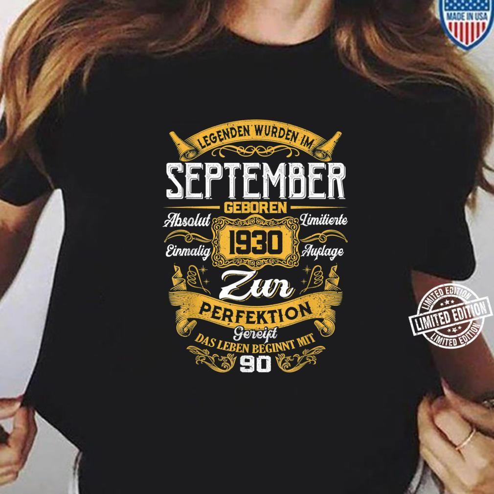 90th Der Mythos Die Legende Legendär seit September 1930 Shirt long sleeved