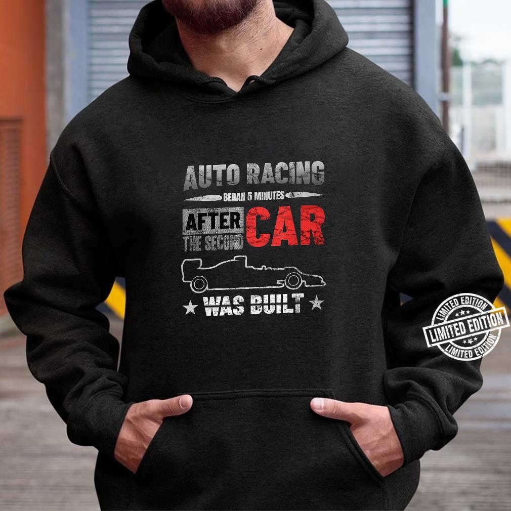 Auto Racing Was Built Auto Racing Mechanic Shirt hoodie
