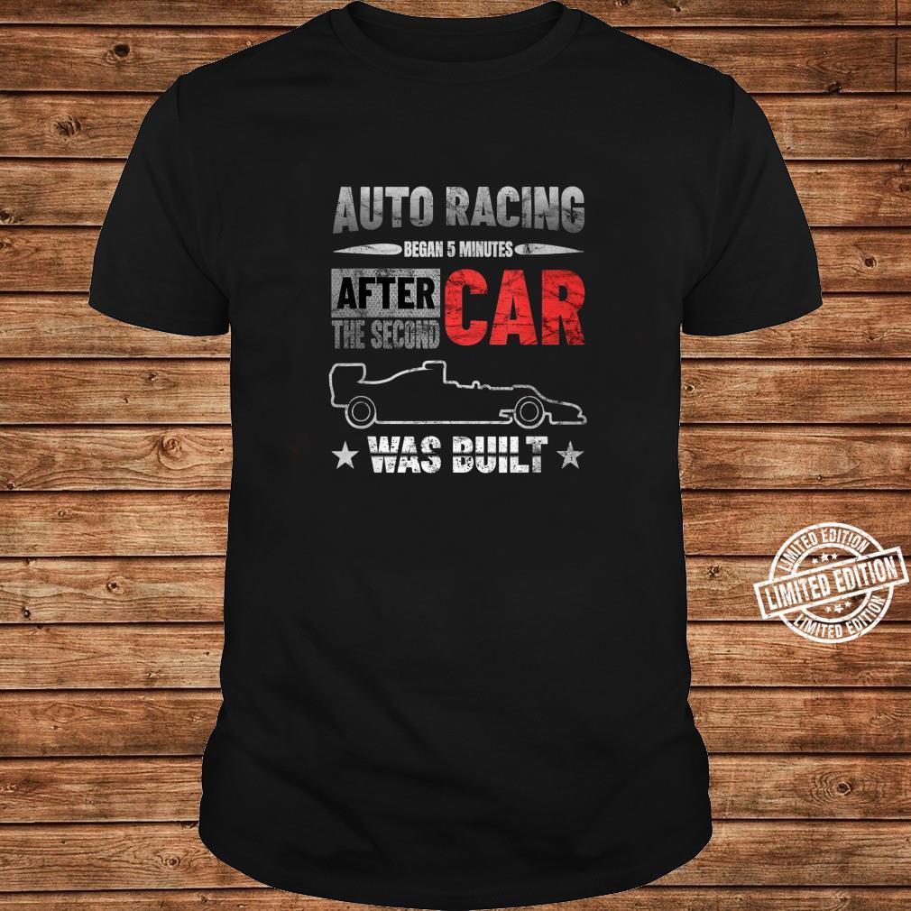 Auto Racing Was Built Auto Racing Mechanic Shirt ladies tee