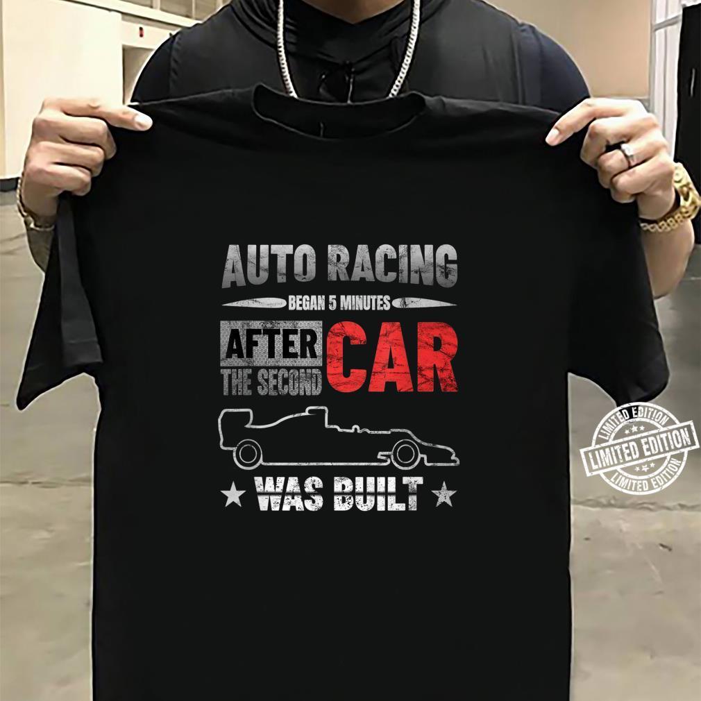 Auto Racing Was Built Auto Racing Mechanic Shirt sweater