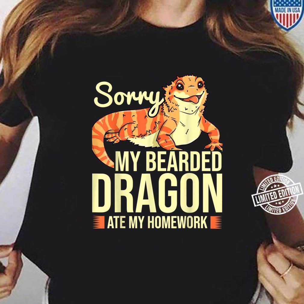 Bearded Dragon Reptile Shirt long sleeved