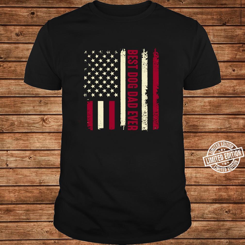 Best Dog Dad Ever Amerikanische Flagge Hund Tier Liebhaber Langarmshirt Shirt long sleeved