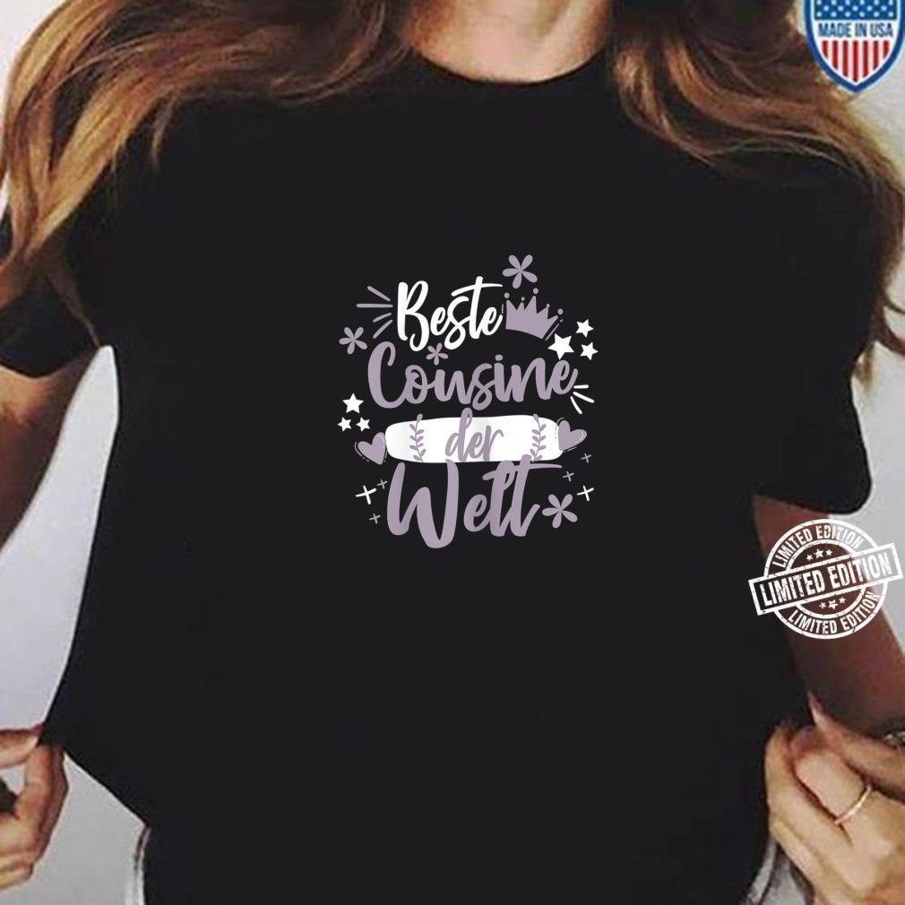 Beste Cousine der WeltSüße Werdende Cousine Sprüche Zitate Shirt ladies tee