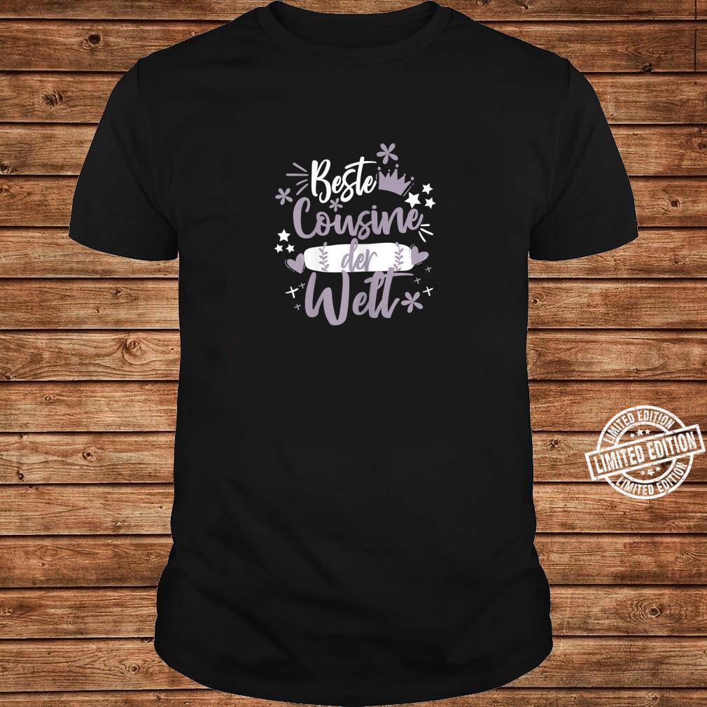 Beste Cousine der WeltSüße Werdende Cousine Sprüche Zitate Shirt long sleeved