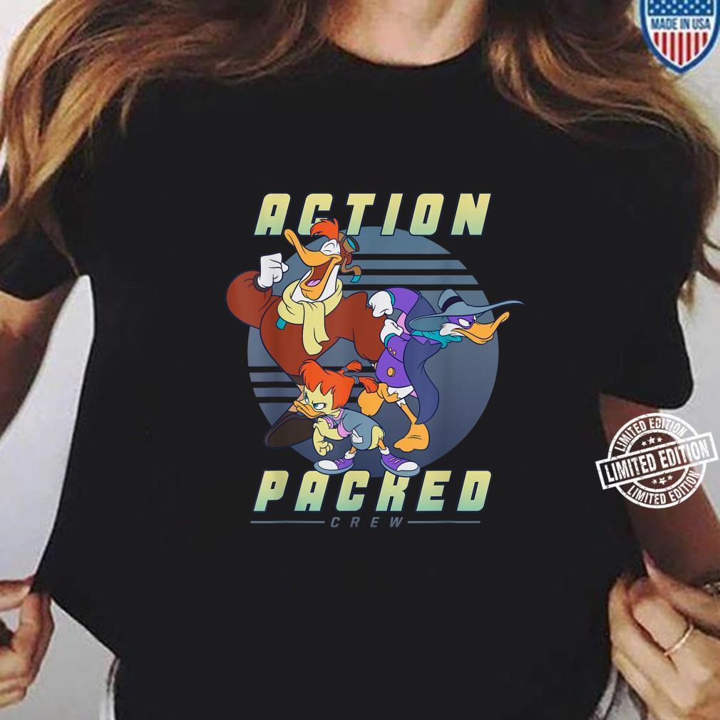 Disney Darkwing Duck Action Packed Crew Shirt ladies tee