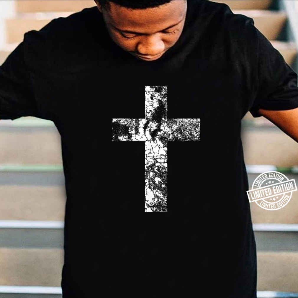 Distressed Cross Religious Jesus Christian Faith Pastor Shirt