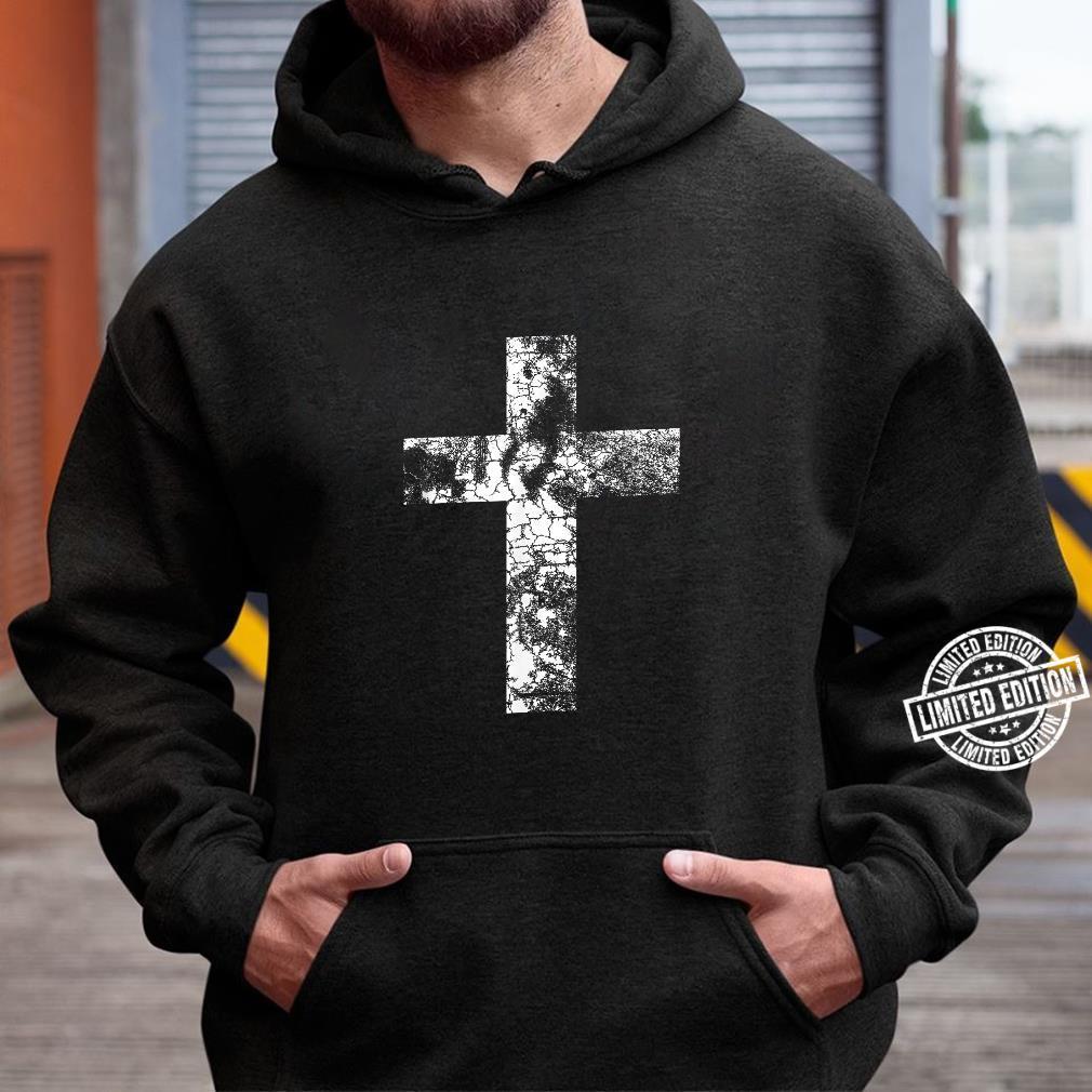 Distressed Cross Religious Jesus Christian Faith Pastor Shirt hoodie
