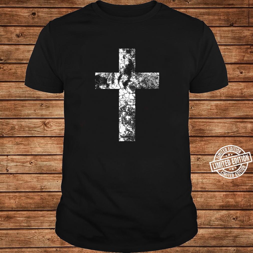 Distressed Cross Religious Jesus Christian Faith Pastor Shirt long sleeved