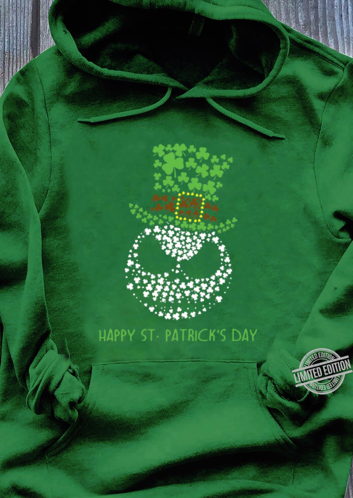 Glitter Jack Skellington Happy St. Patrick's day shirt, hoodie, sweater, longsleeve t-shirt hoodie