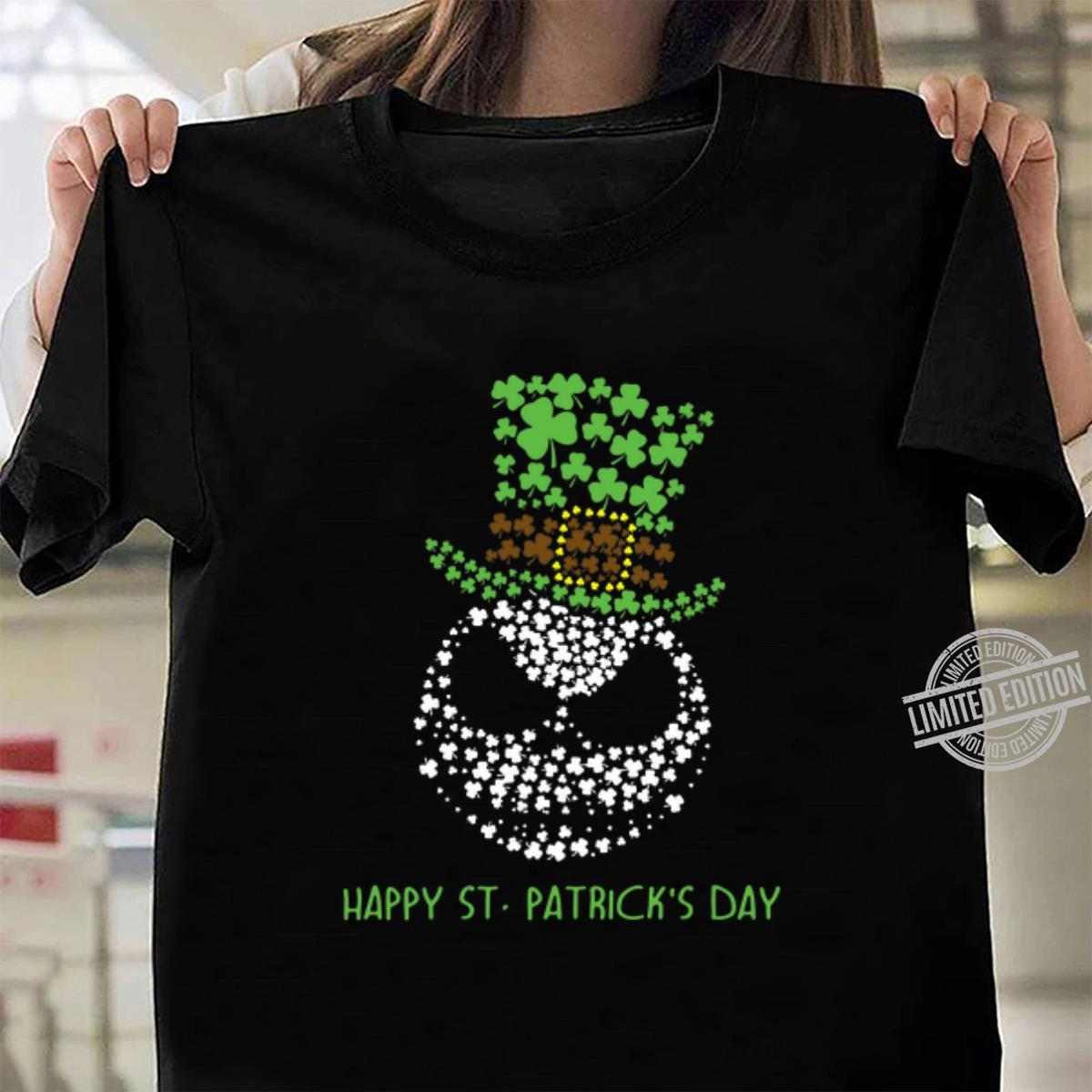 Glitter Jack Skellington Happy St. Patrick's day shirt, hoodie, sweater, longsleeve t-shirt ladies tee