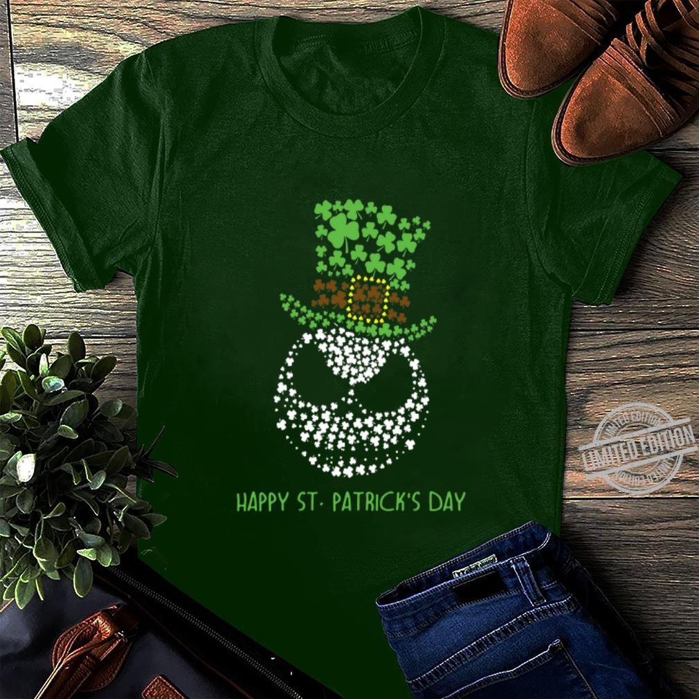 Glitter Jack Skellington Happy St. Patrick's day shirt, hoodie, sweater, longsleeve t-shirt long sleeved