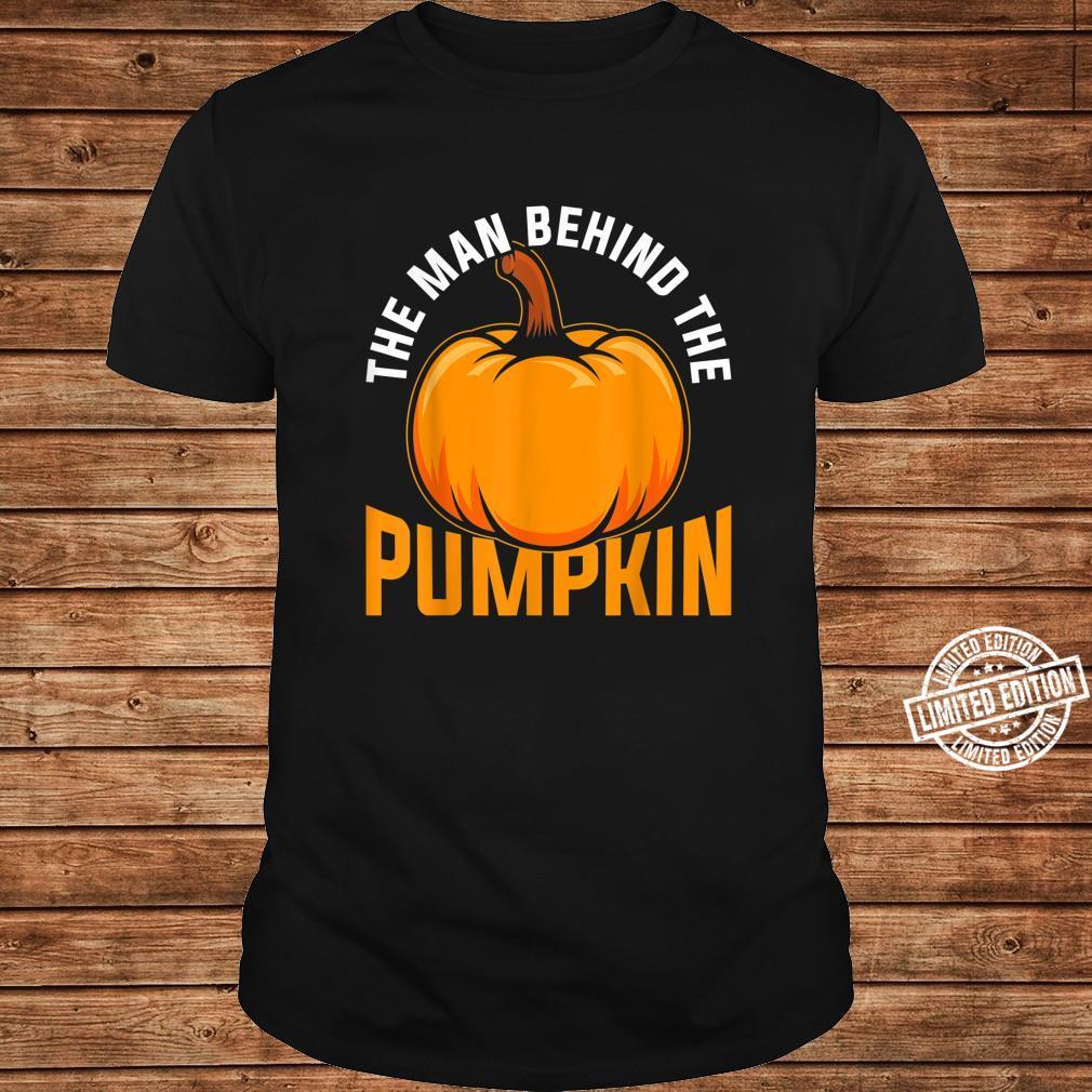 The Man Behind The Pumpkin Halloween Shirt ladies tee