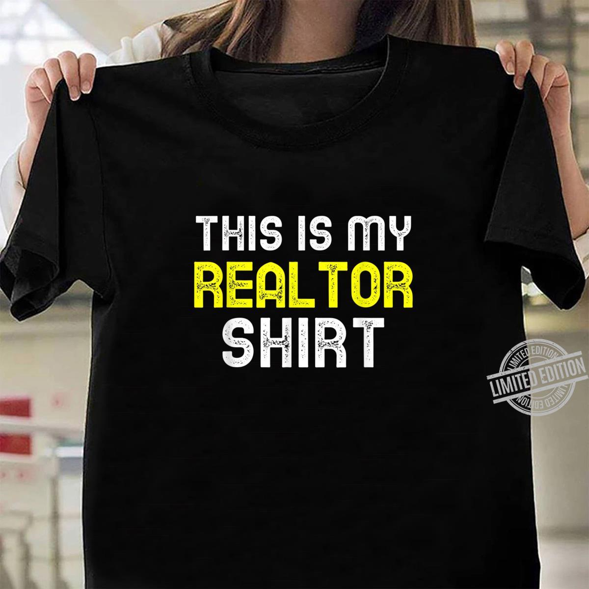 This Is My Realtor Shirt Real Estate Agent Cool Shirt ladies tee