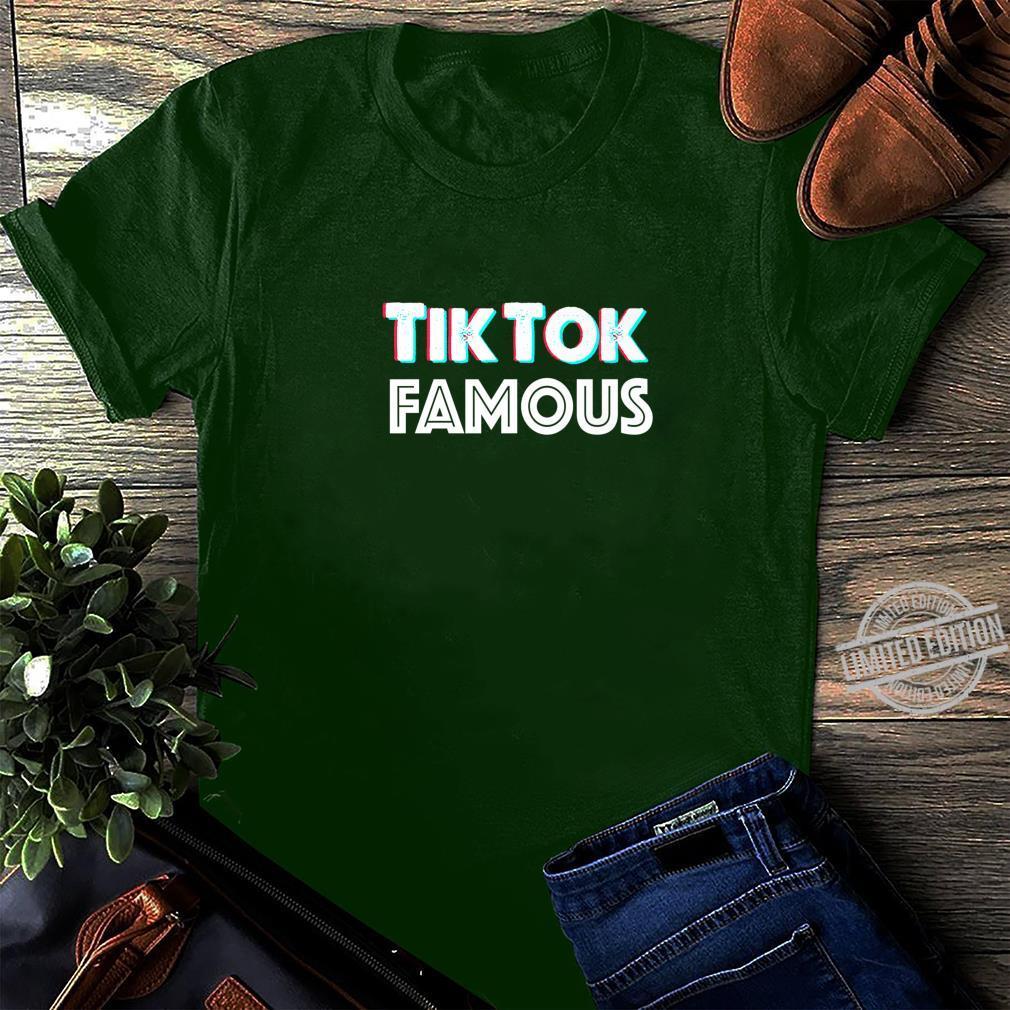 Tik and Tok Famous Social Media Shirt long sleeved