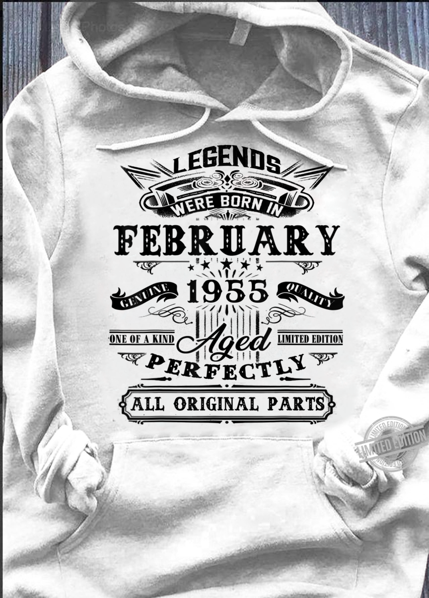 Vintage February 1955 65th Birthday For 65 Years Old Shirt hoodie