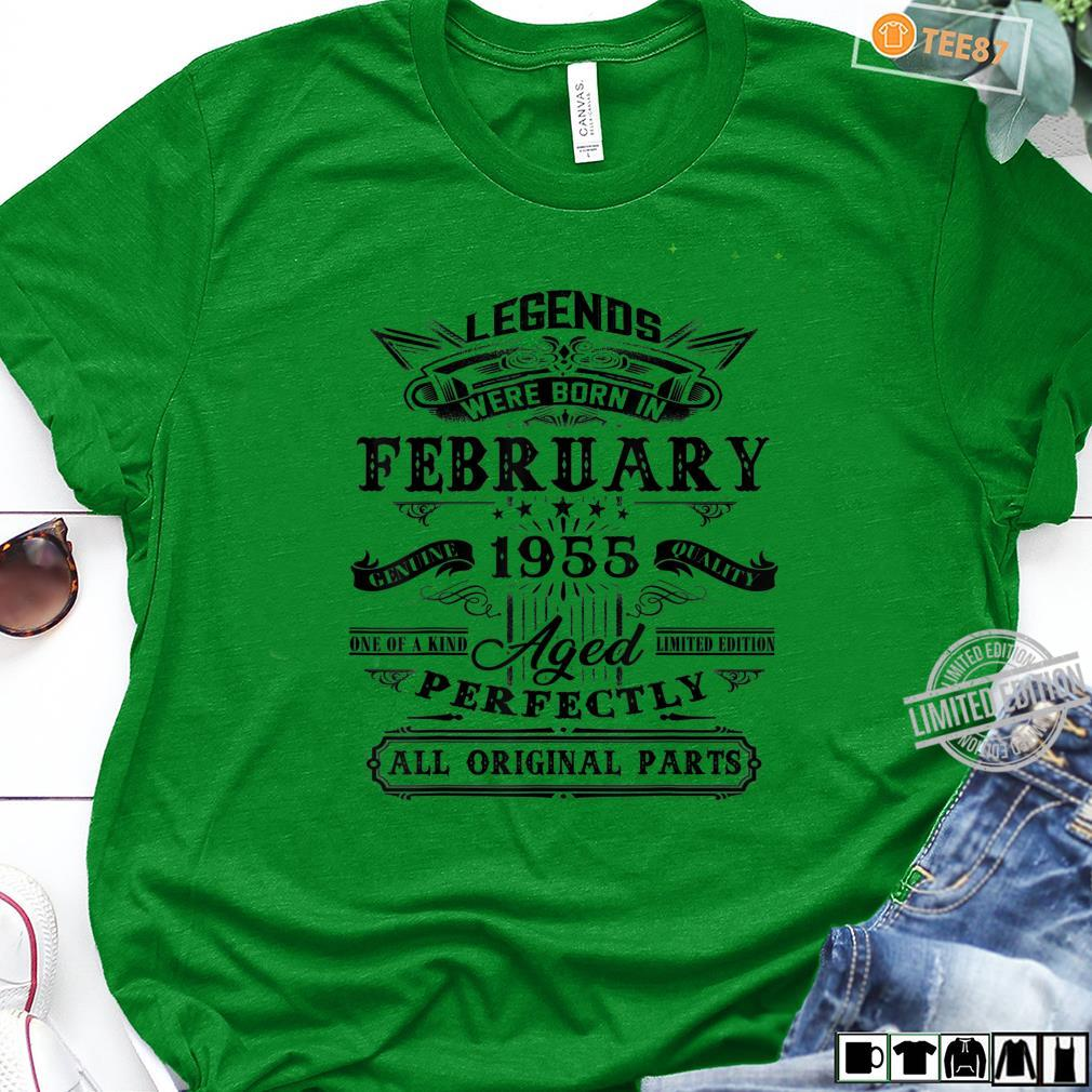 Vintage February 1955 65th Birthday For 65 Years Old Shirt long sleeved