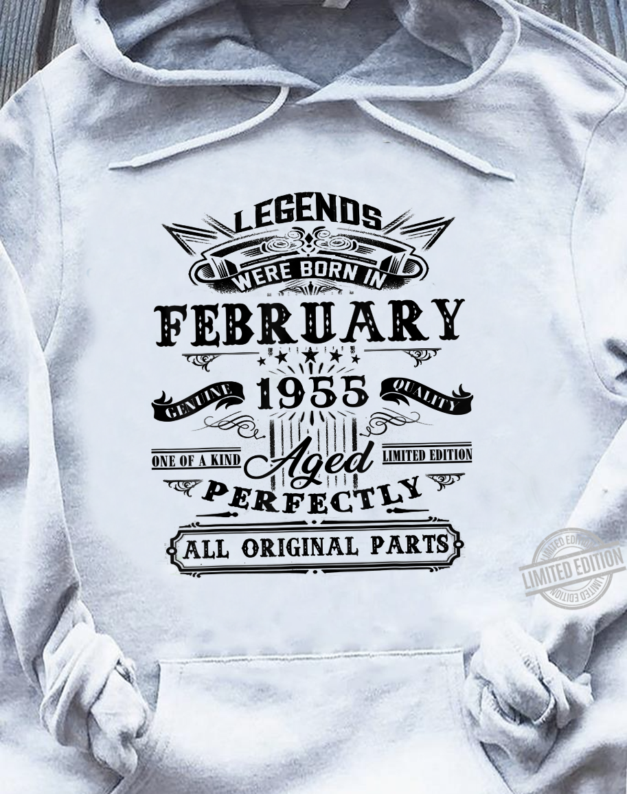 Vintage February 1955 65th Birthday For 65 Years Old Shirt sweater